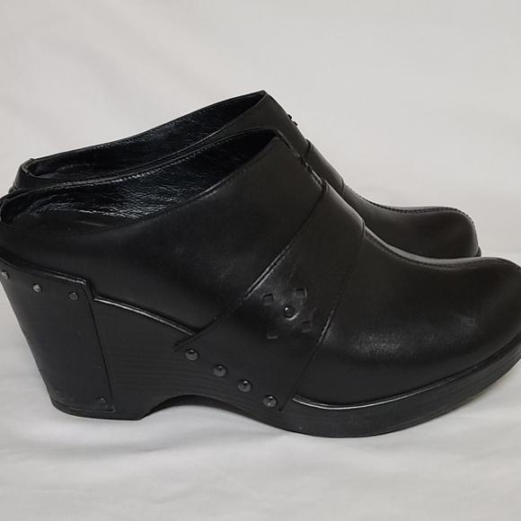Dansko Black Clogs with heel size 38